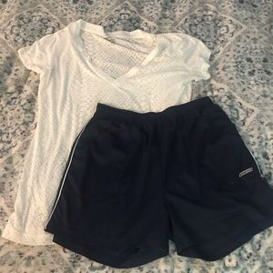 Reebok shorts with Tee L